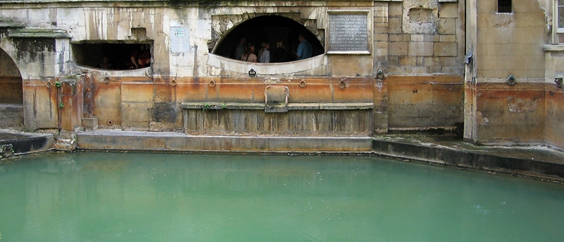 Sacred spring at Roman Baths