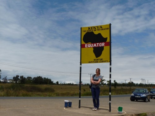 At the equator