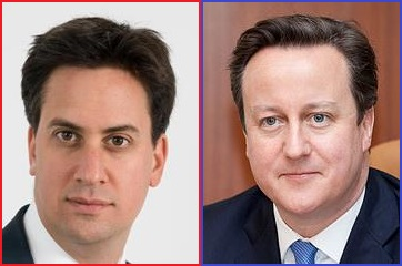 Ed Miliband en David Cameron